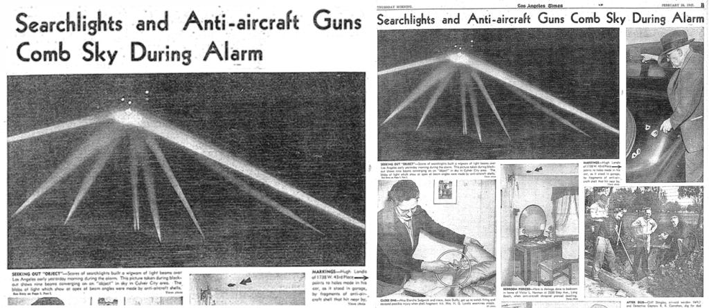 ロサンゼルスの戦い当日の新聞