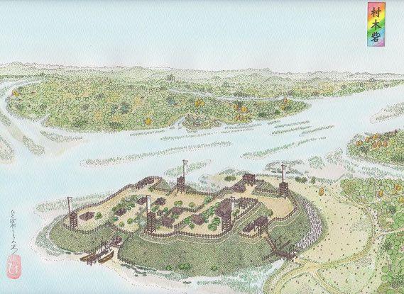 村木城の戦い 絵