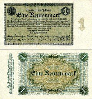 新貨幣レンテンマルク誕生
