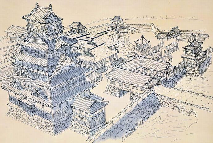 北ノ庄城想像図