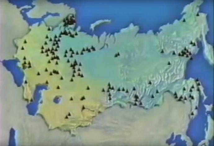 ロシア国内の強制収容所監督所の数