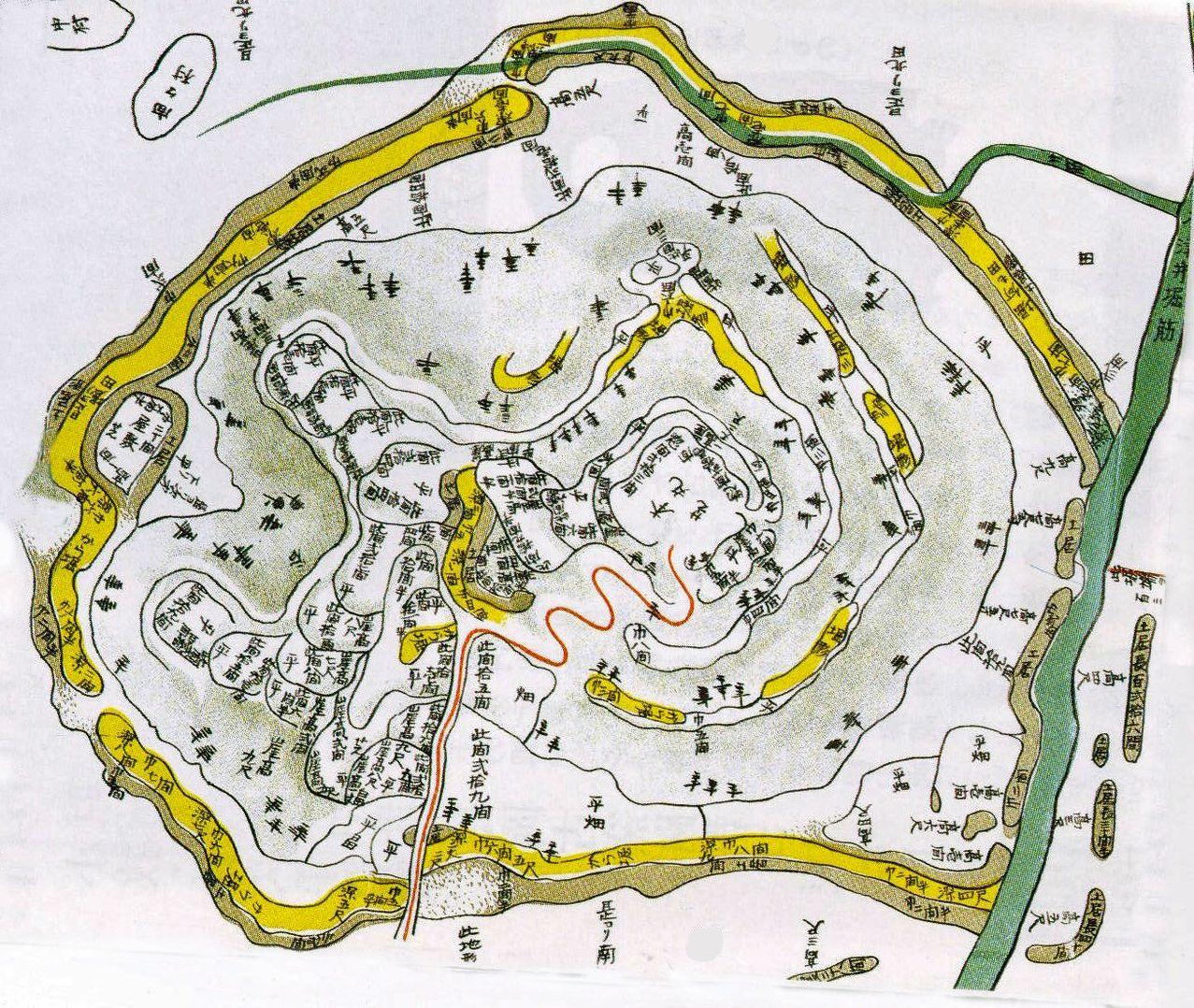 小牧山城の古地図