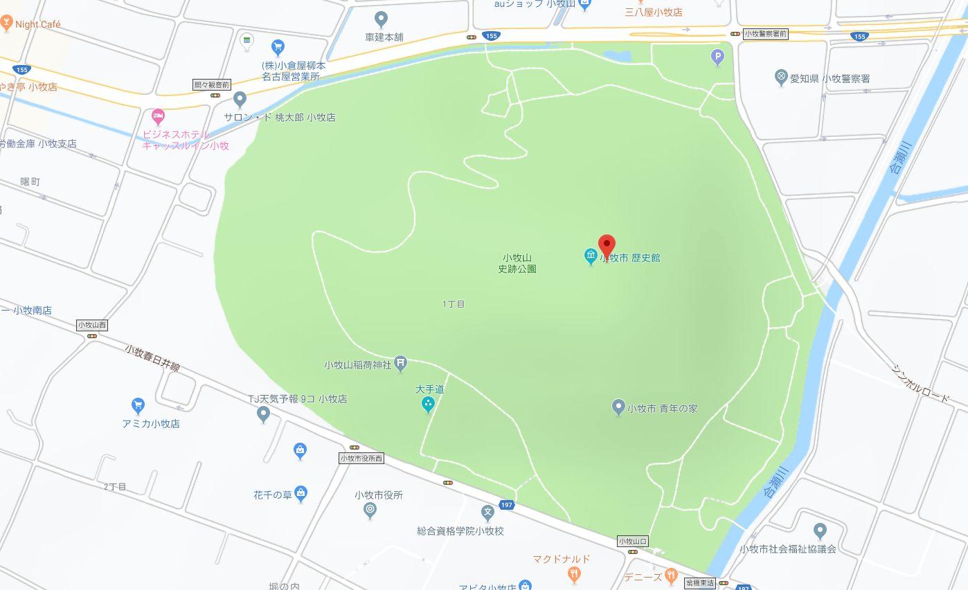 小牧山の地図
