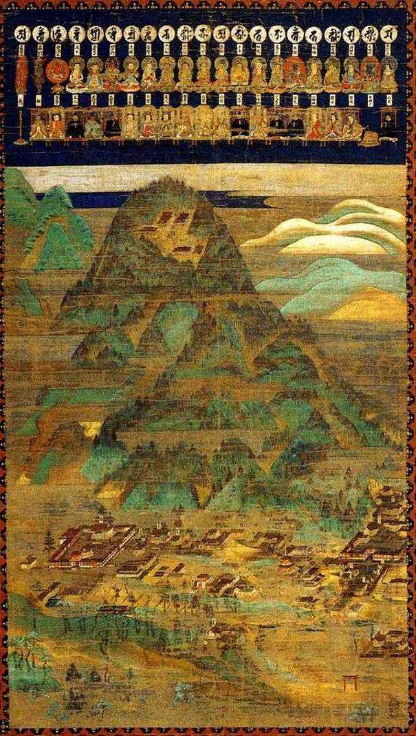 在りし日の比叡山延暦寺