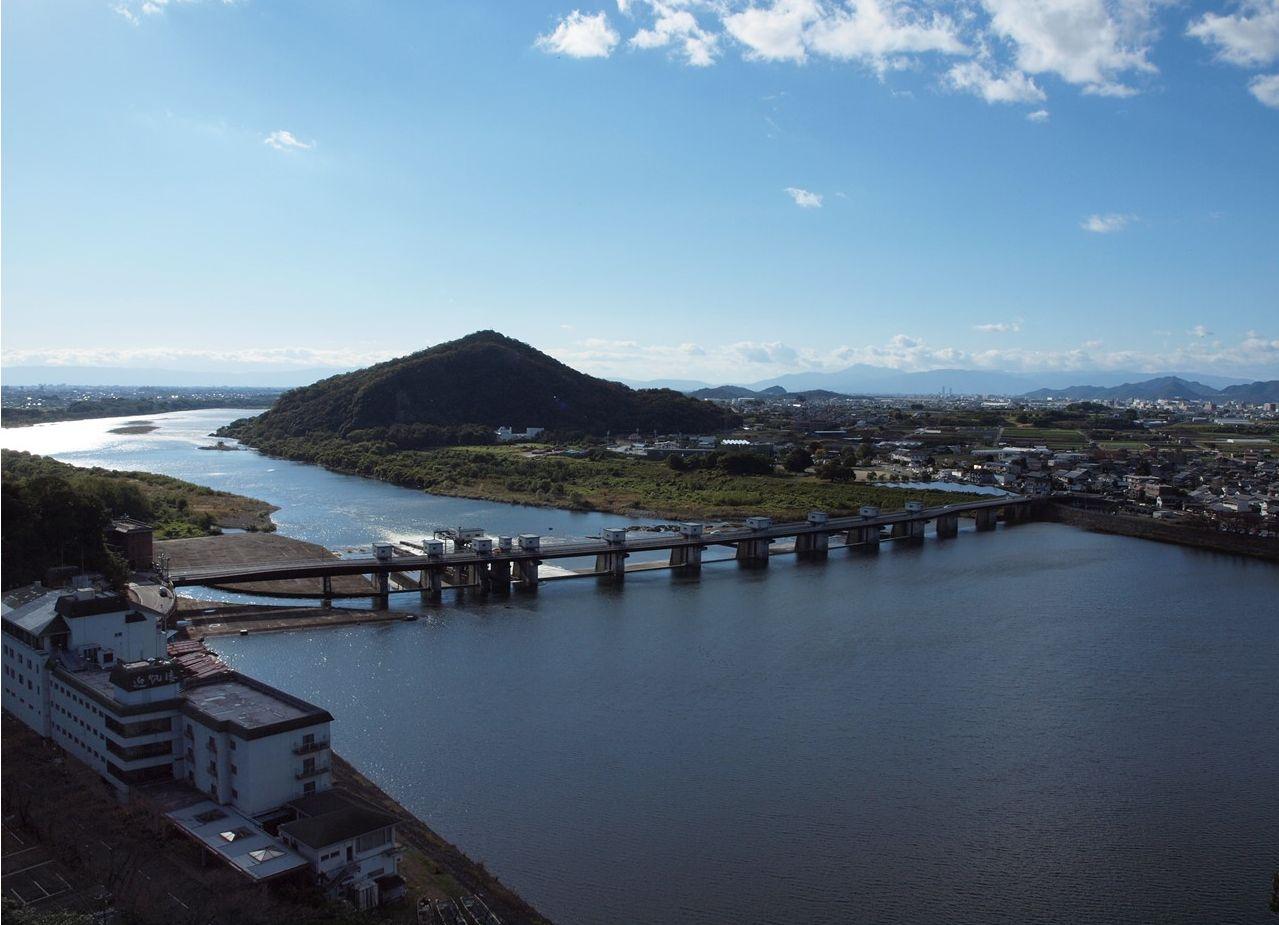 犬山城一帯の景色