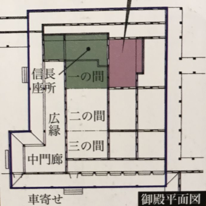 当時の本能寺の平面図