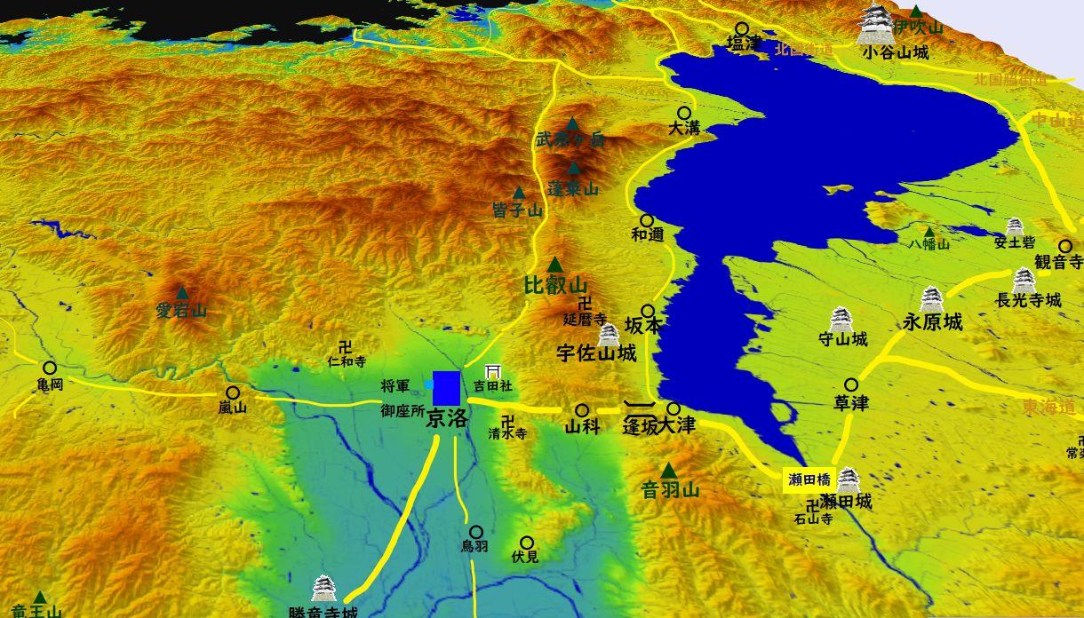 信長時代の京都地図