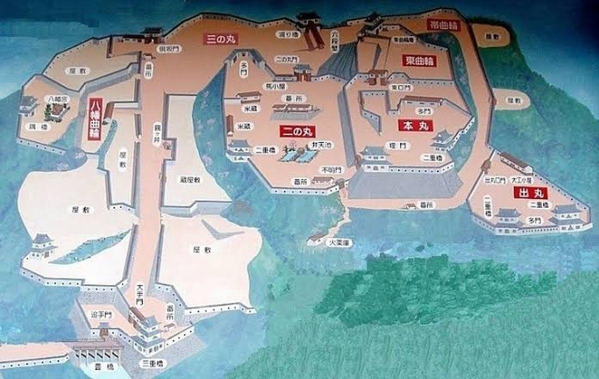 岩村城出丸ガイドMAPより
