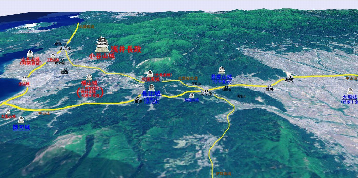 姉川周辺図