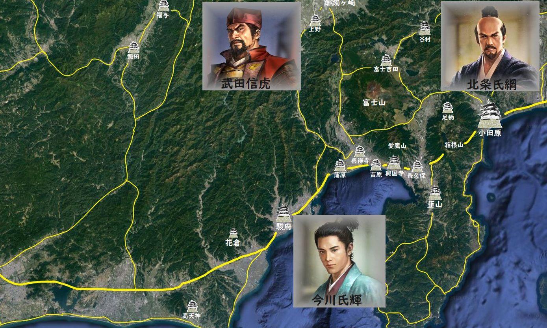 駿河・甲斐・相模付近の地図01