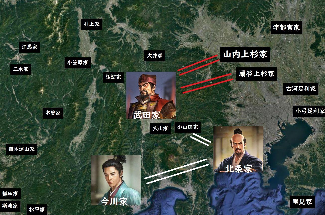 武田信虎は両上杉家と同盟を結んで対抗