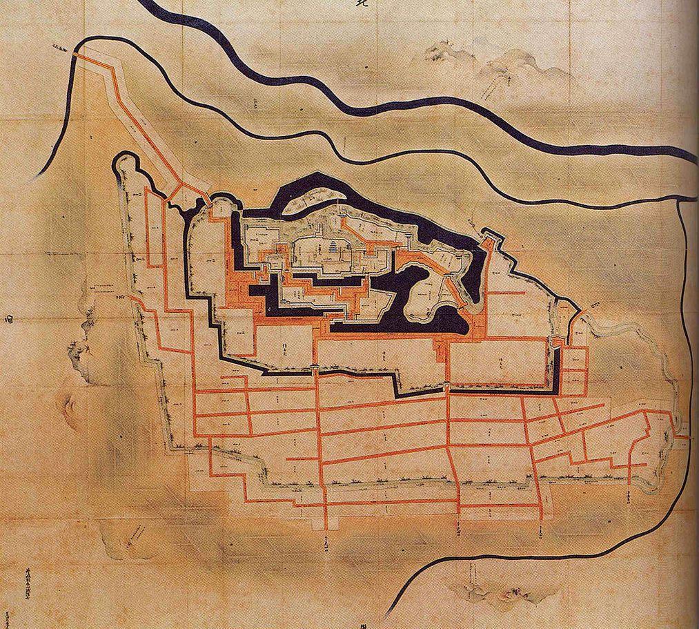 丹波亀山城古絵図